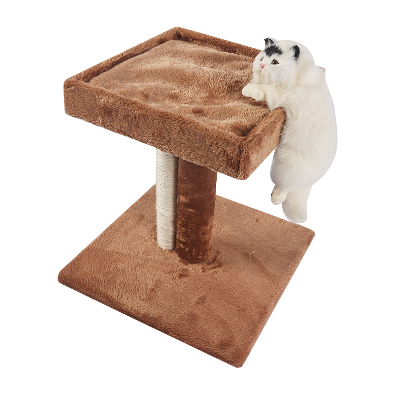Small double deck cat crawler with sisal pole
