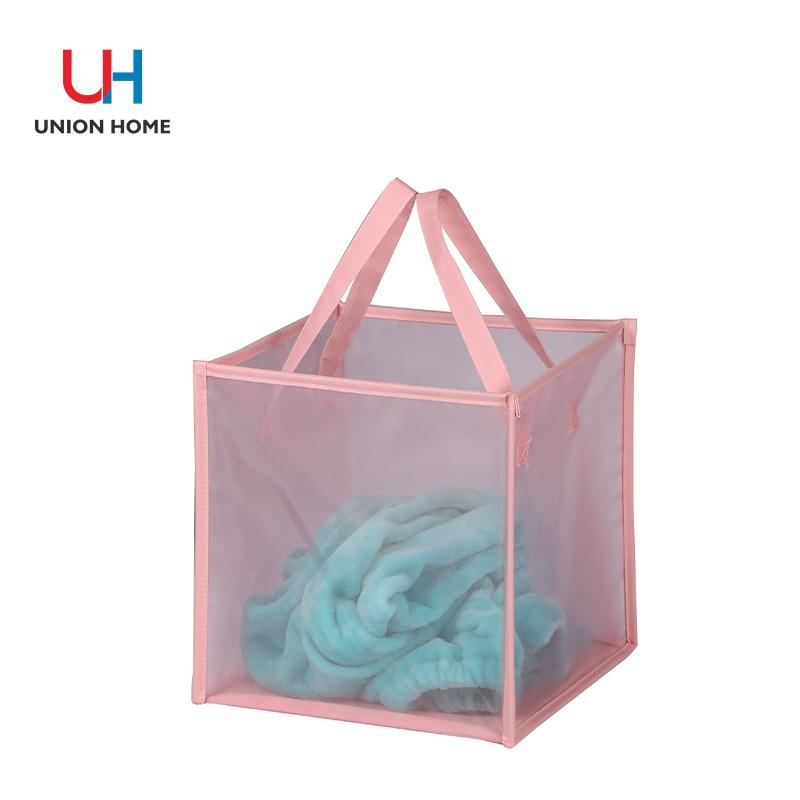 Collapsible nylon mesh hamper