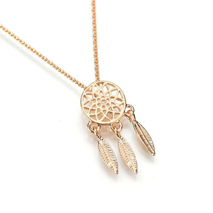 alloy hollow pendant necklace