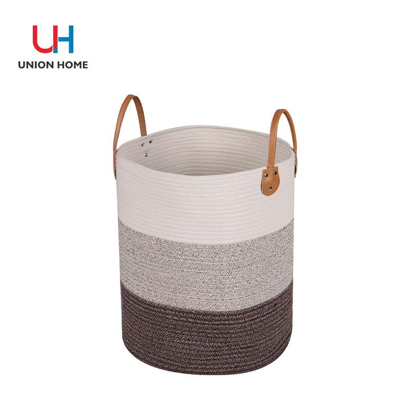 Multi-usage cotton rope laundry bin