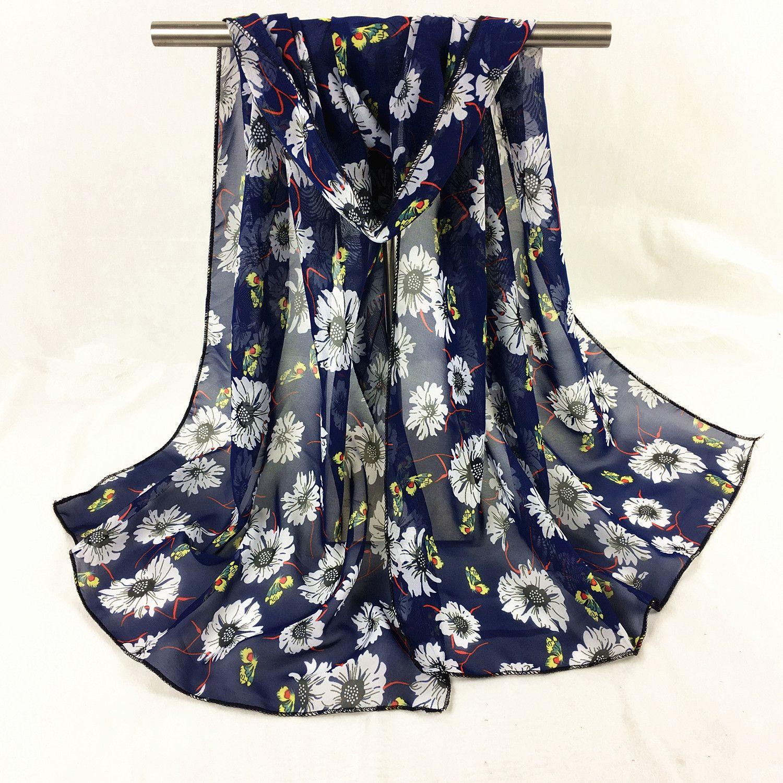 Printed chiffon shawl