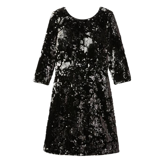 Velvet Sequin EMB Dress