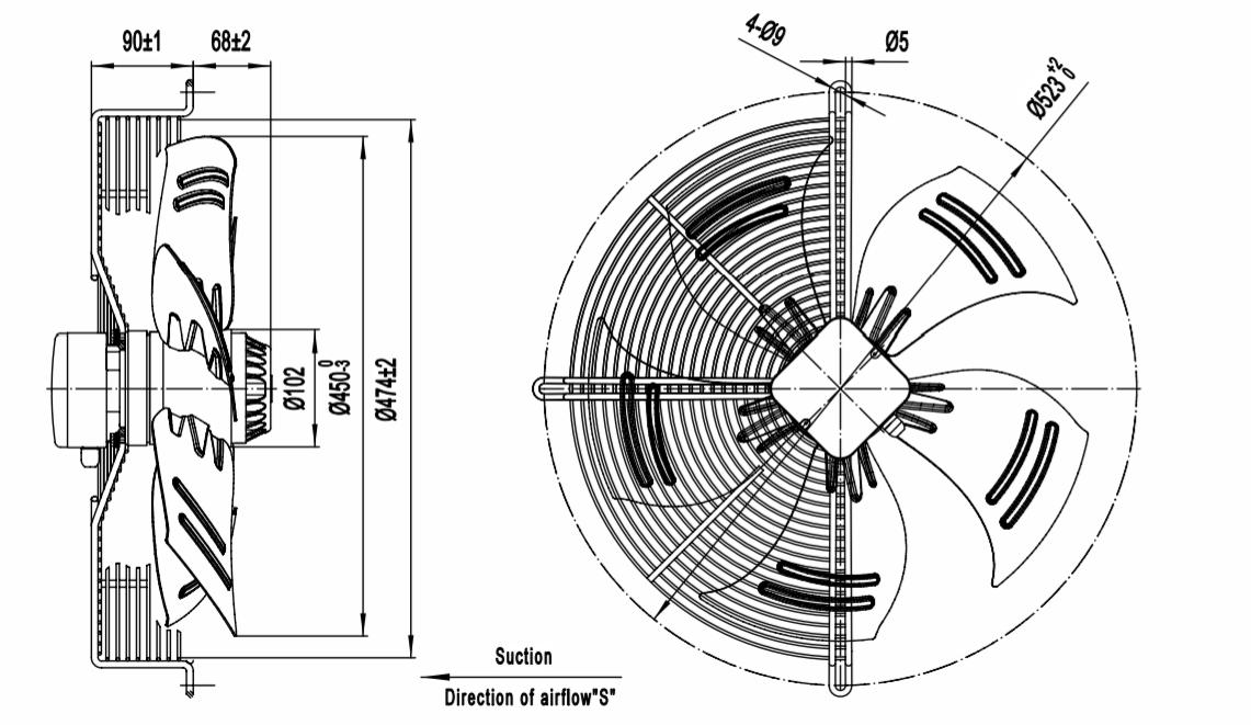 axial fan filter media