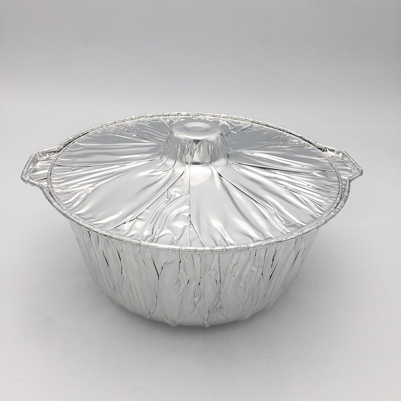 aluminium pot with lid