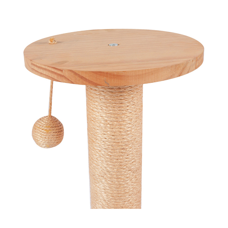 Solid wood cat toy sisal pole