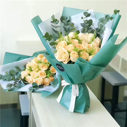 Clear flower wrapping paper
