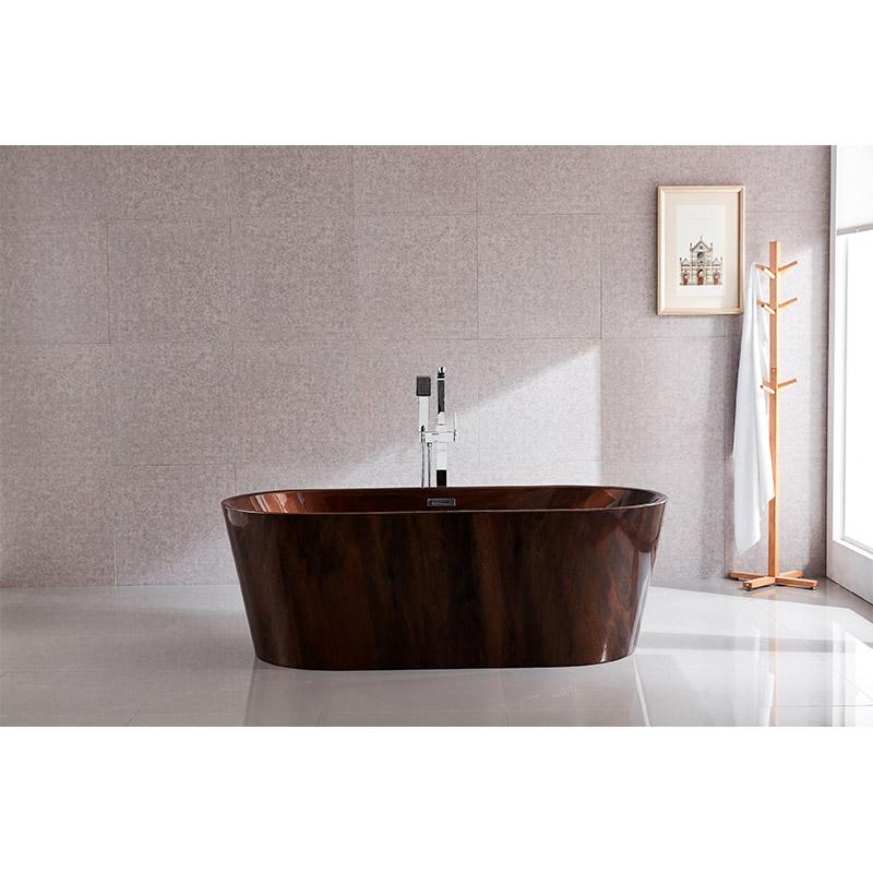 Popular bathroom freestanding bathtubs coffee brown manufacturers