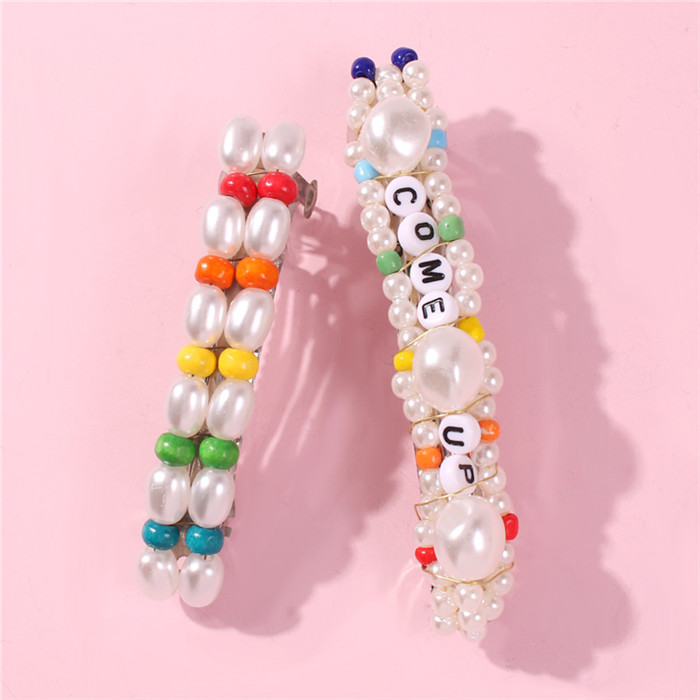 New Letters Pearl Hairclips