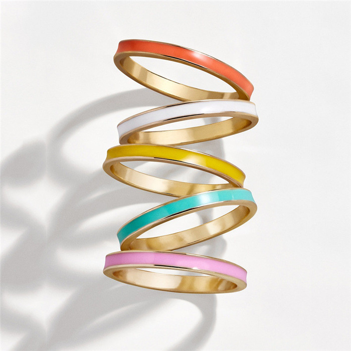 Colorful Wave Drop Oil Rings