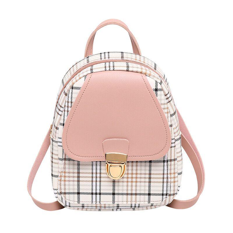 Mini Plaid Backpack