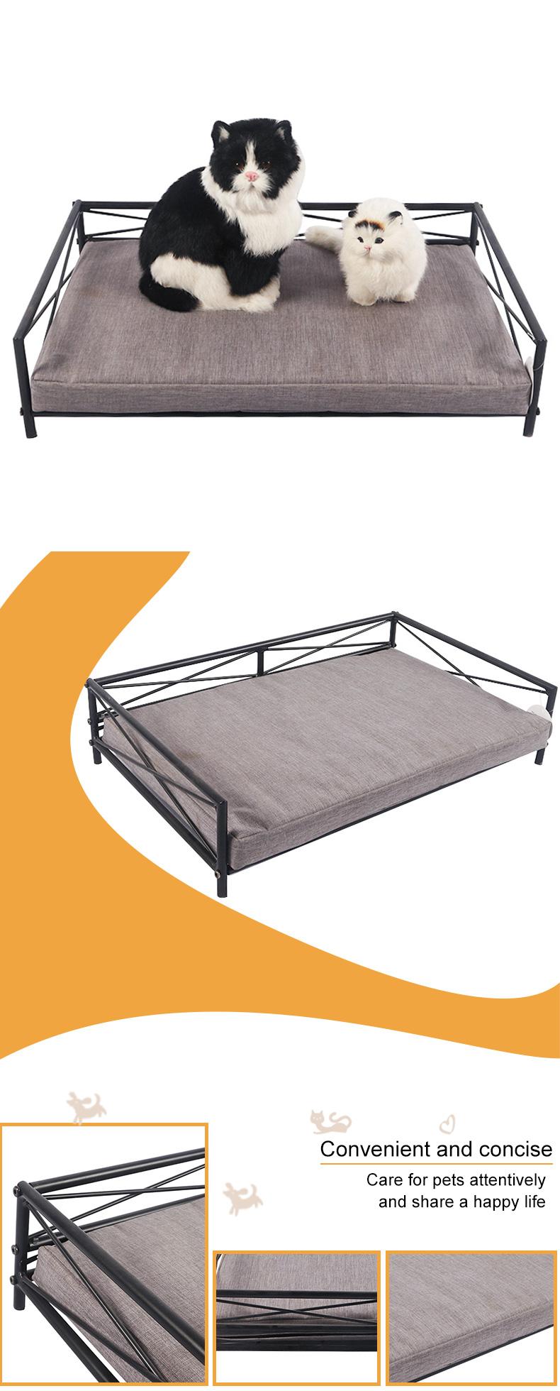 rectangular metal cat bed pet product