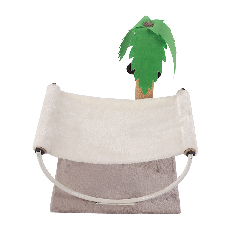Double decker cat bed with coconut tree sisal column pet product