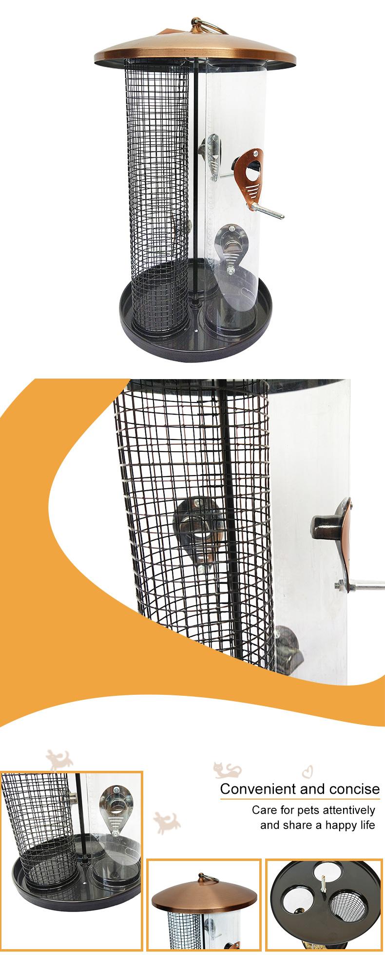 3 in 1 metal bird feeder pet supplies