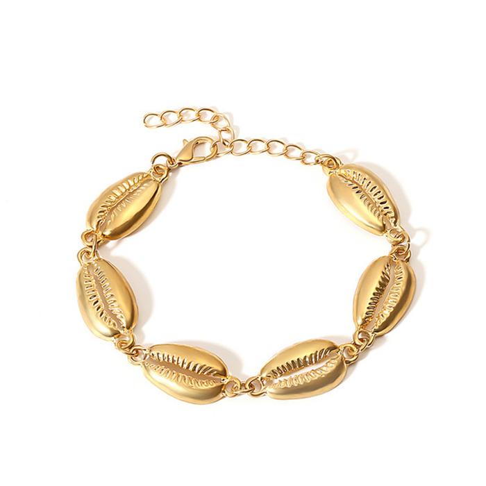 Gold Color Cowrie Shell Bracelets f