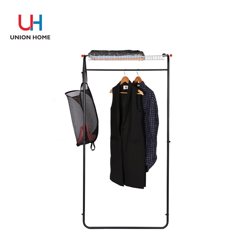 Plastic iron tube garment rack