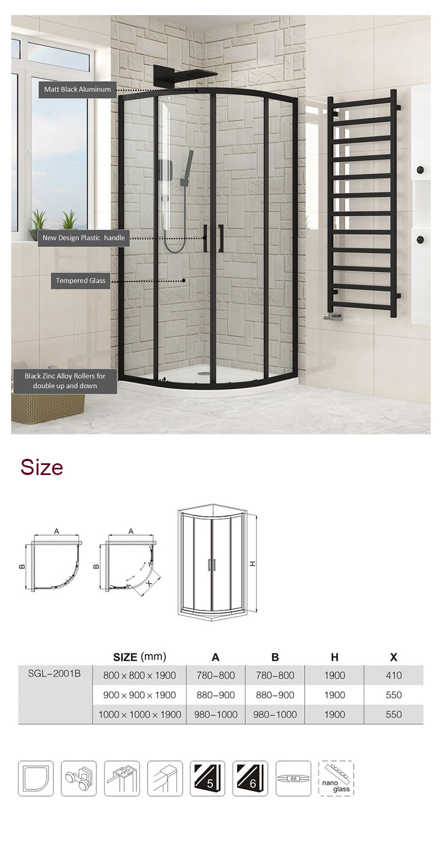 custom glass shower enclosures manufacturers