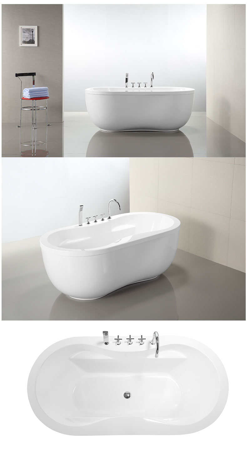 Freestanding Tub With Drains
