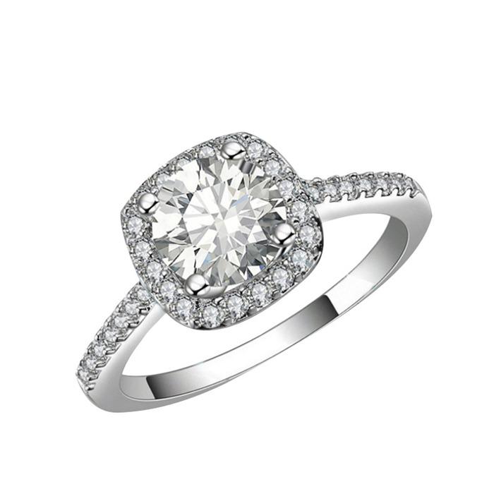 Inlay zircon ring