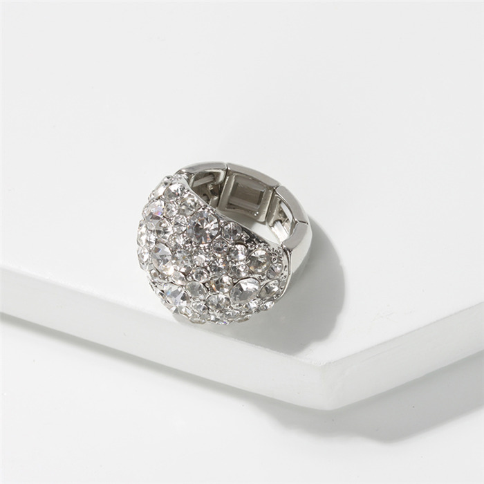 Crystal Silver Ringds