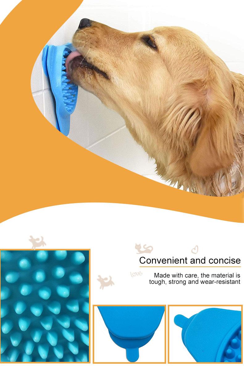 Pet bow silicone dog