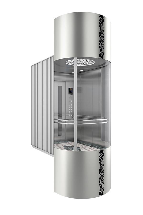 Car wall Safety Glass Observation Elevator