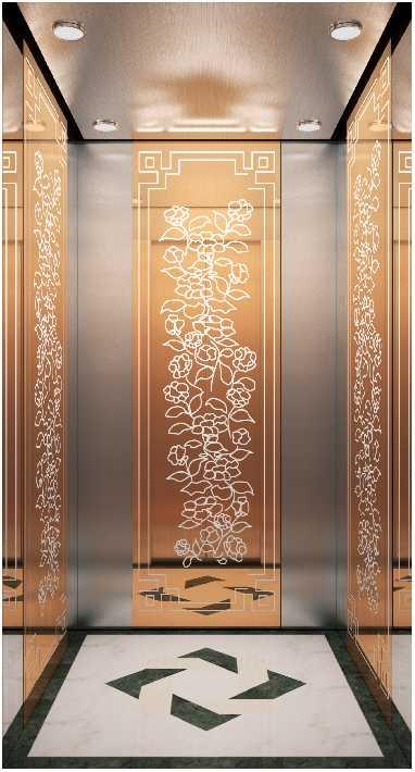 8 passenger elevator size