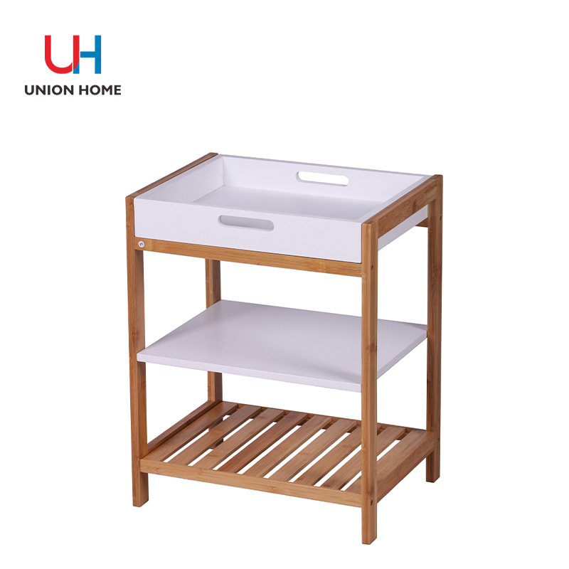 Bamboo and mdf multi-functional bamboo rack