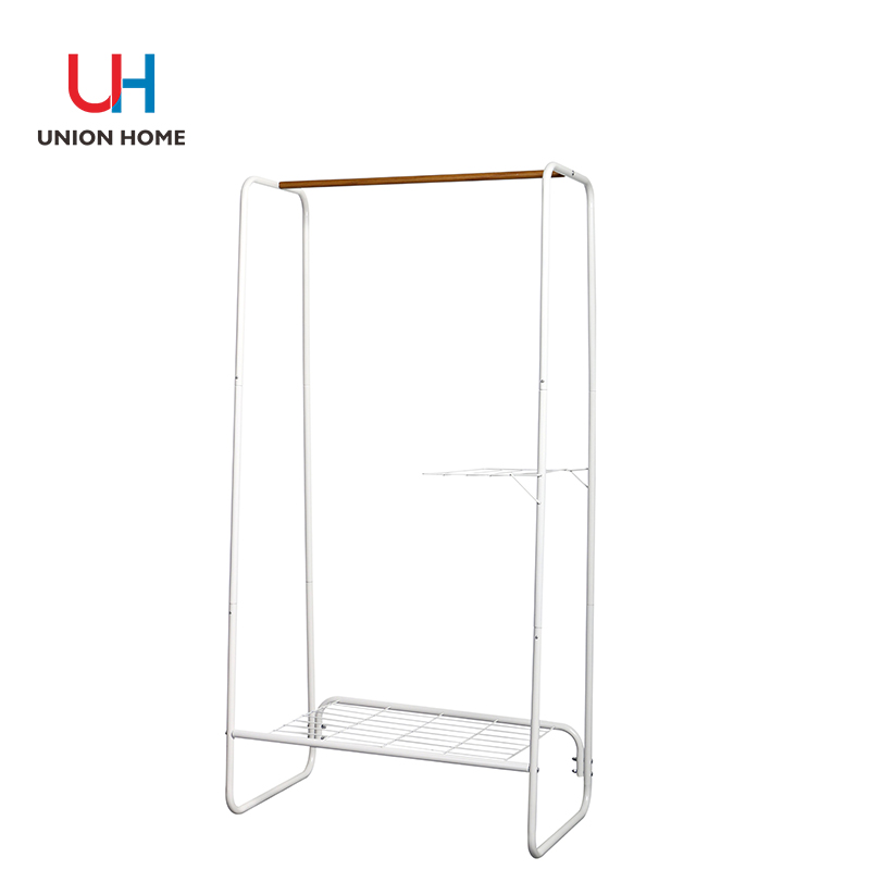 Powder Coating Tubes Garment Rack With Iron Wire