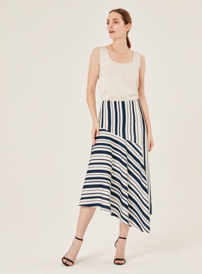 Dina strip skirt