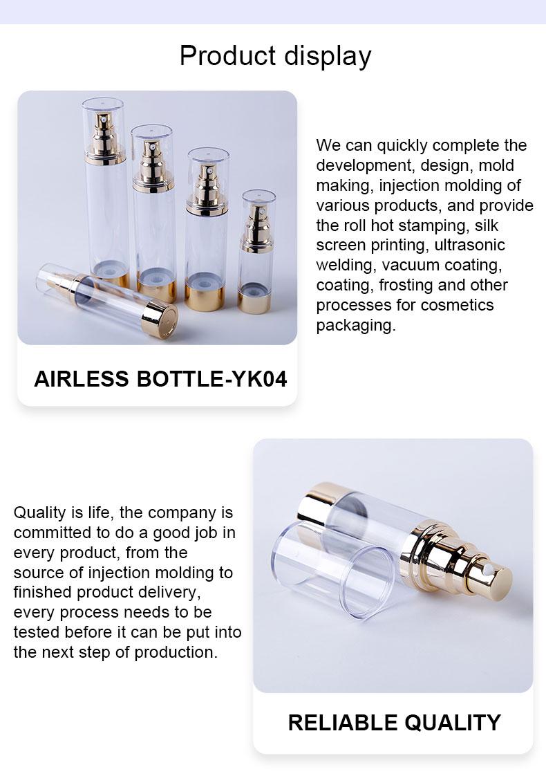 Glass airless pump bottles
