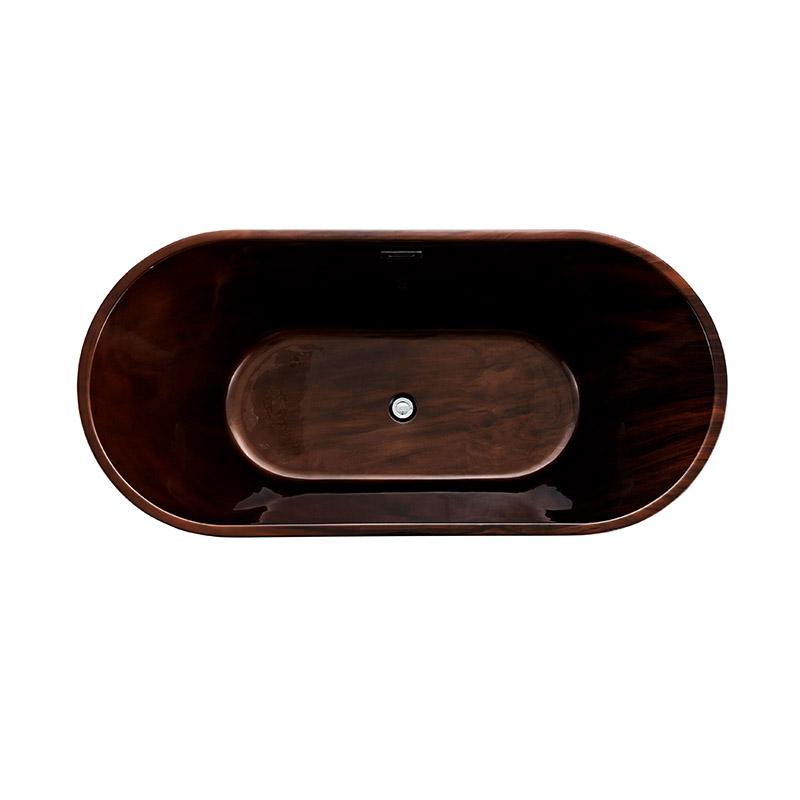 Popular bathroom freestanding bathtubs coffee brown