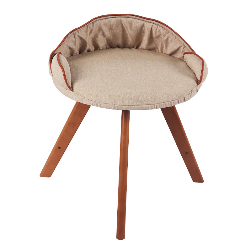 Open solid wood cat chair