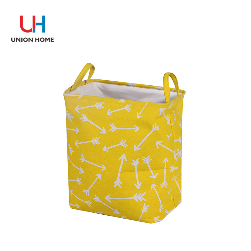 PRINTED CANVAS LAUNDRY BASKET
