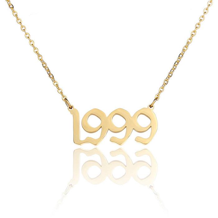 Birthday holiday digital necklace