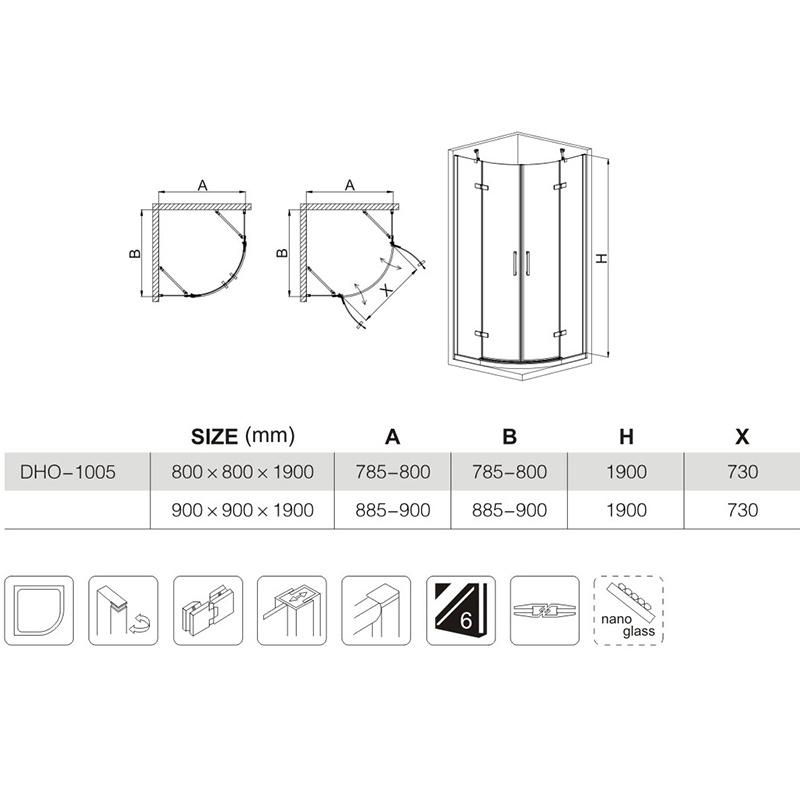 custom shower enclosures manufacturers