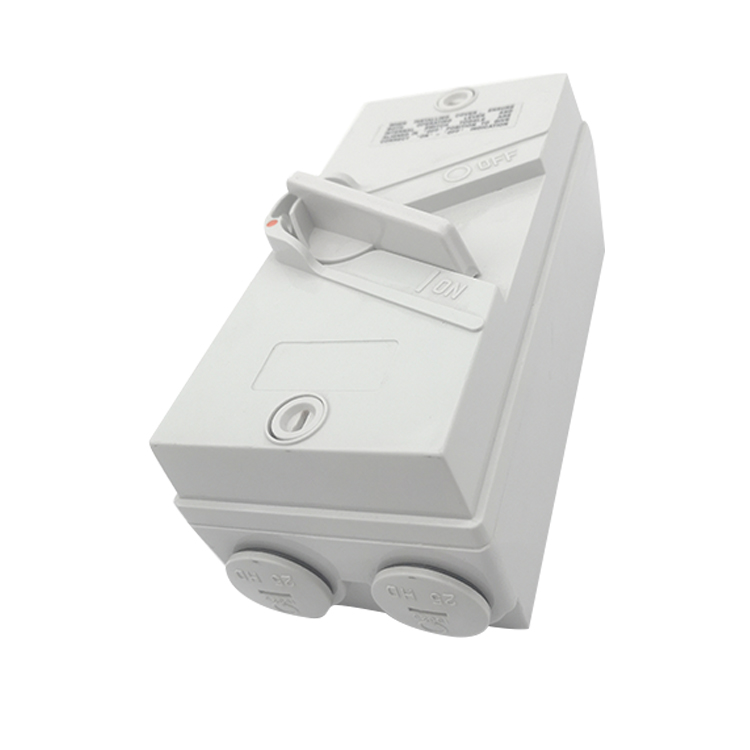 CE Australia 20A 240V 3 pole IP66 White Waterproof isolator Switch