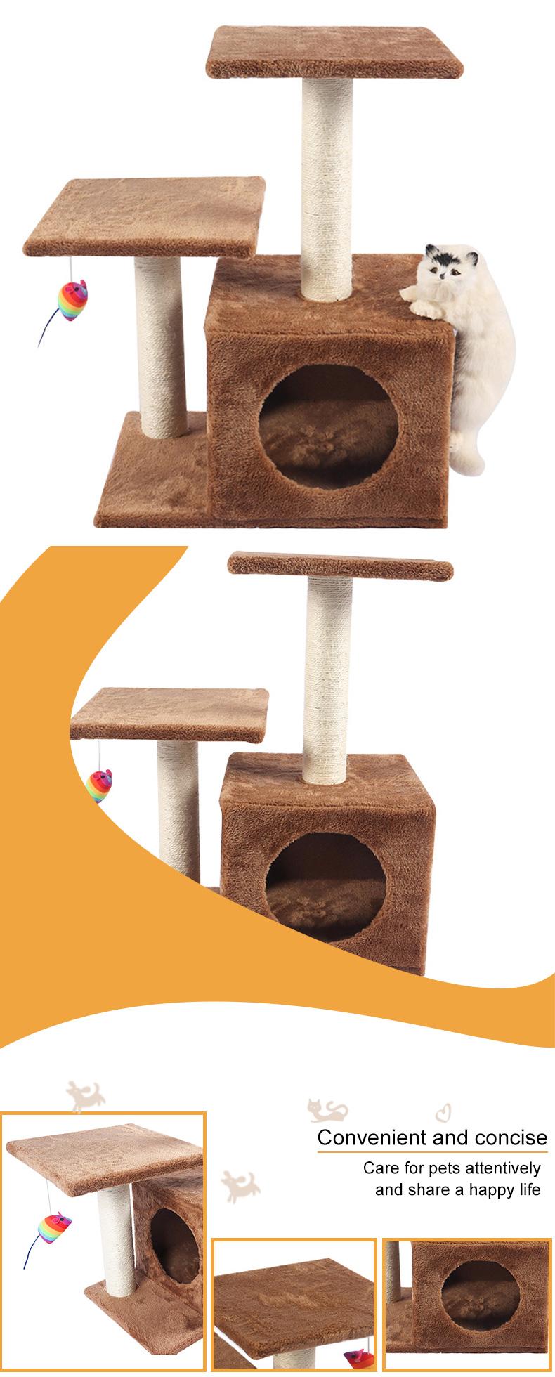 Small multi-layer cat climbing frame