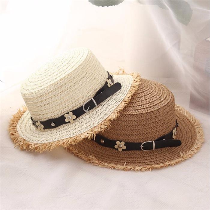 Flat top straw hat