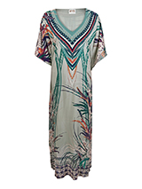 Wider Print Rayon dress
