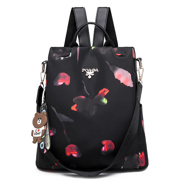Fashion Bear Keychain Large Capacity Backpack