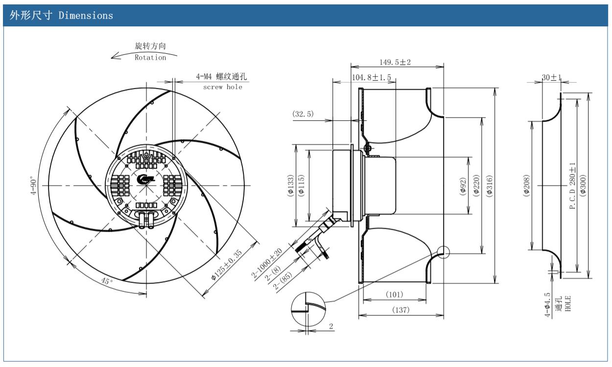 centrifugal fan inlet box design