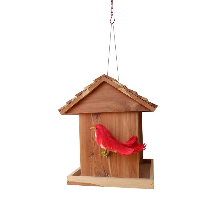 Red cedar bird feeder pet supplies