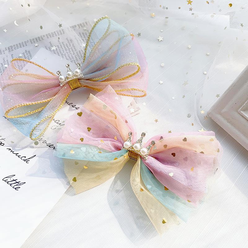 Color bowknot girl hair clips