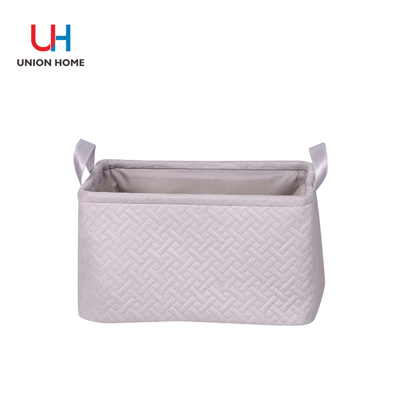 Iron wire leather handle laundry bag