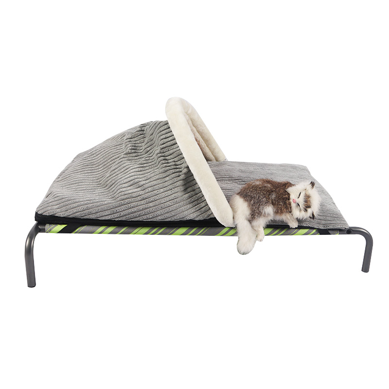 Split type semi-enclosed cat bed