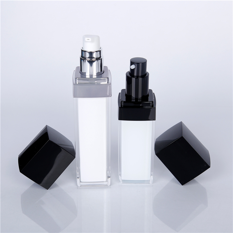Spray lotion bottle with black lid
