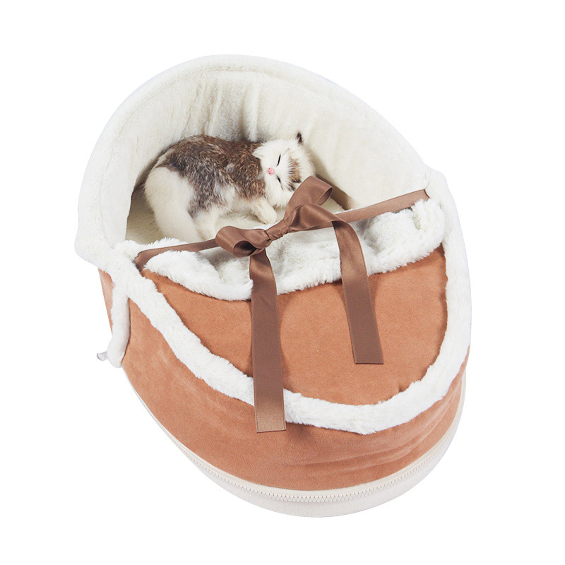 Warm sleeping bag for cats fall and winter pet product