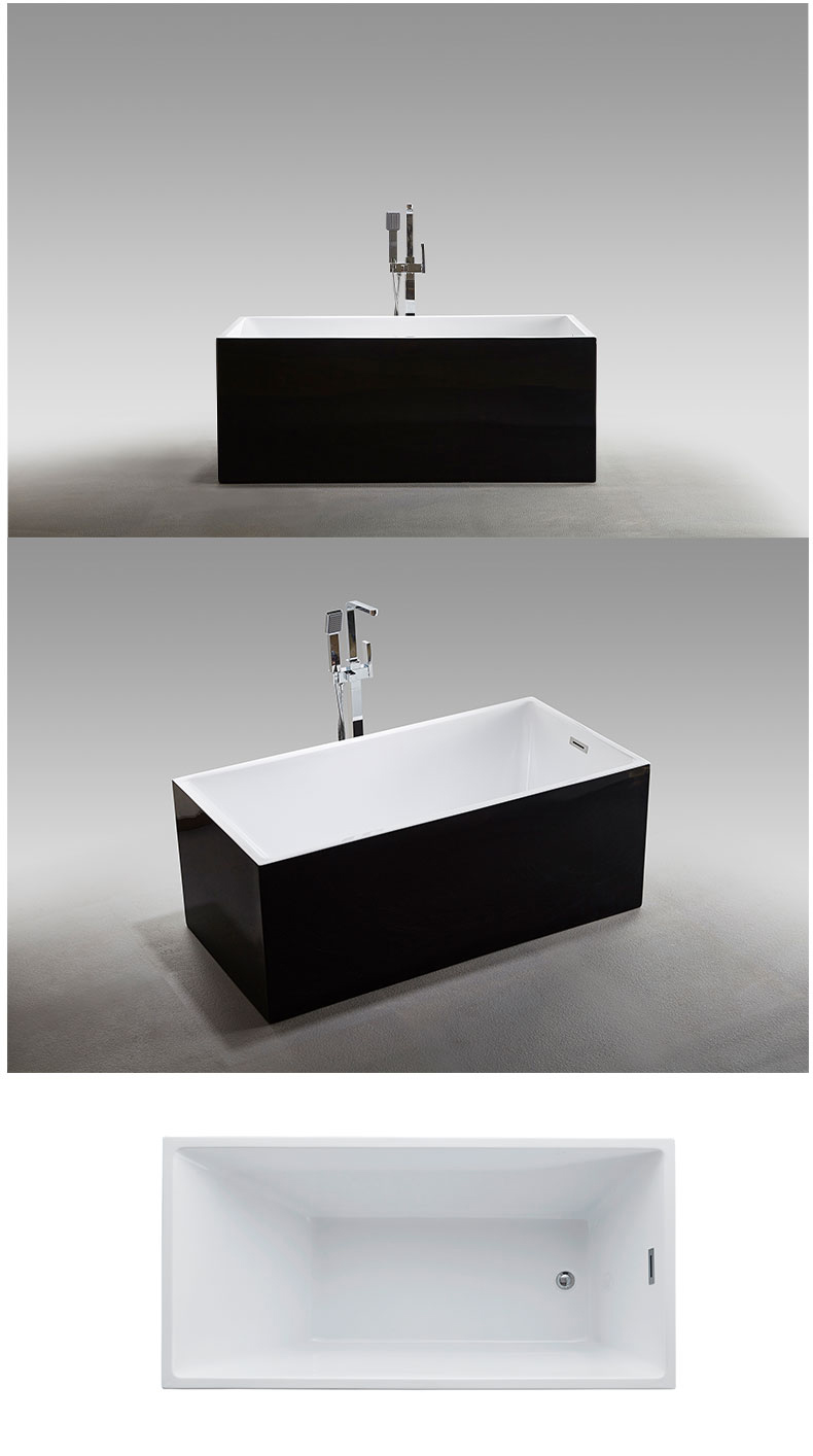 Luxury tubs in bathroom black arcylic manufacturers