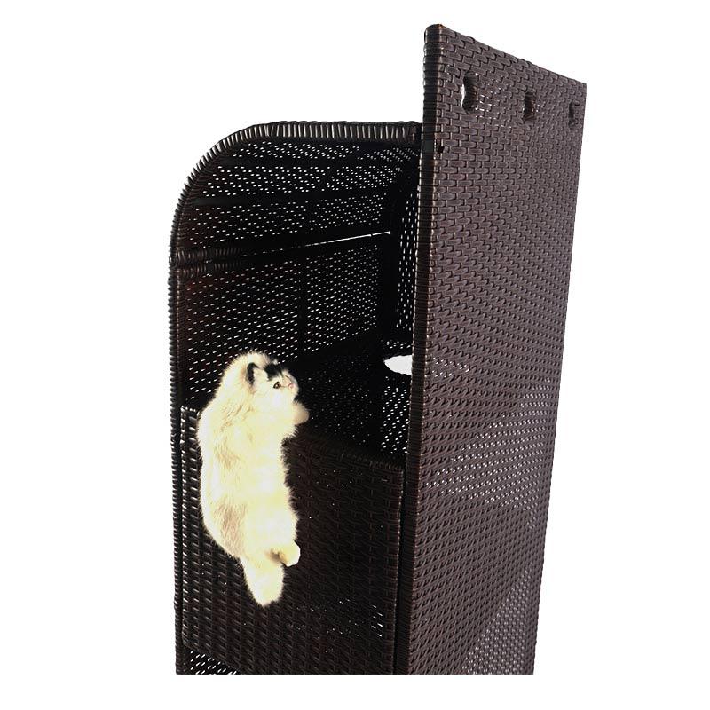 A multilayer cat nest made of rattan pet supplies