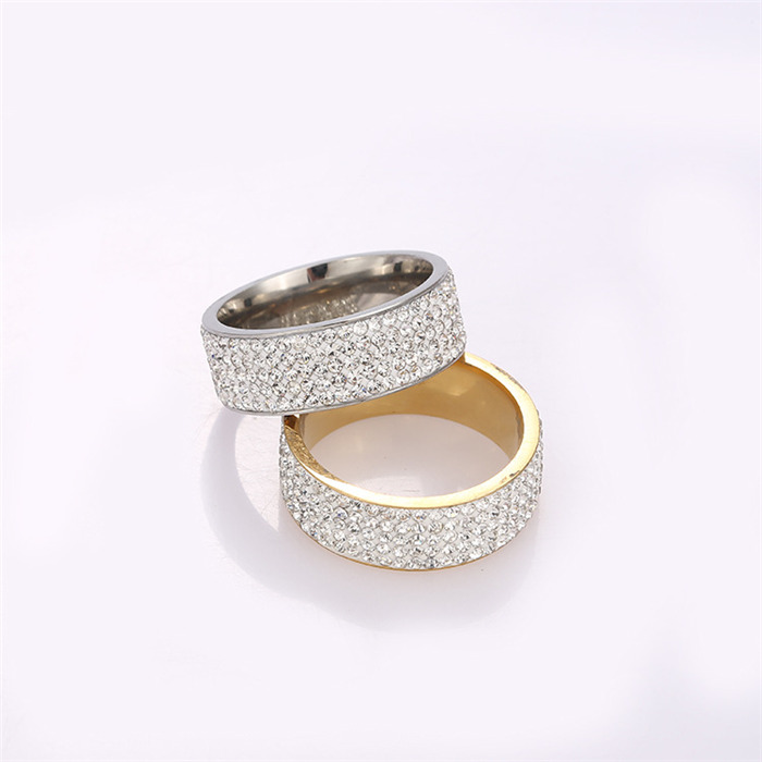 Stainless steel with a diamond ring